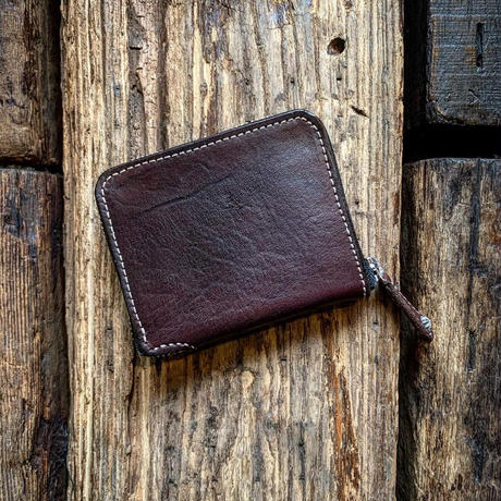 Dutch Leather Company × Japanese Silver Smith MASAYOSHI round zip short wallet