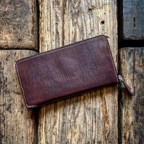 Dutch Leather Company × Japanese Silver Smith MASAYOSHI round zip long wallet