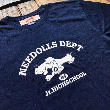 Needolls / Dude Junior High School TEE  INDIGO