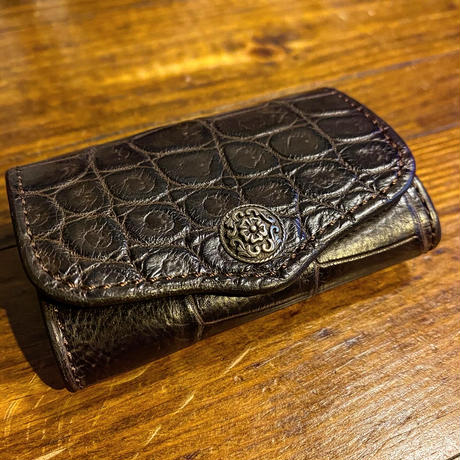 "FUNNY / BOX COINCASE ""CROCODILE"" ( BROWN)"