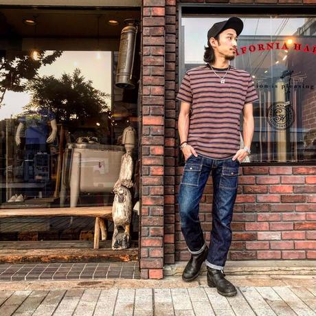 STEVENSON OVERALL CO. / Classic Bordered Pocket T-shirt