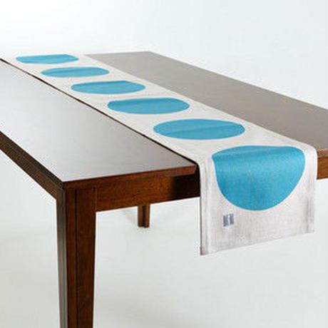 テーブルランナー 北欧デザイン ウォータードロップ ジュビリー