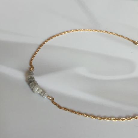 ホワイトダイヤモンドのチェーンブレスレット