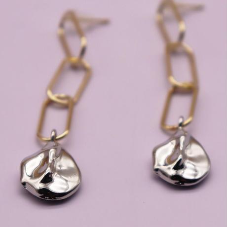 Irregular Metal Splicing Chain Pierce (GOLD)   /   2105-PR0129