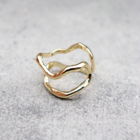 Wave line ring(GOLD) / 2102-RG001