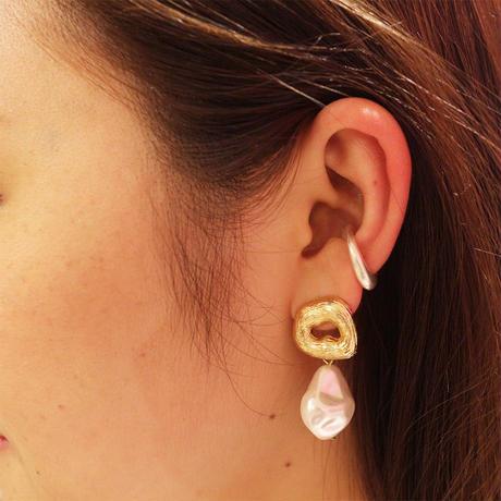 Curve Ear Cuff  Med(SILVER)  / EC-030