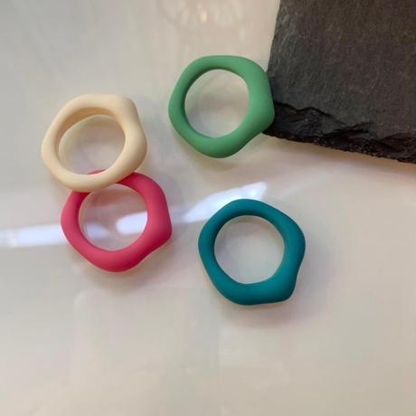 Acrylic Irregular Ring(Cream) /   2105_RG040