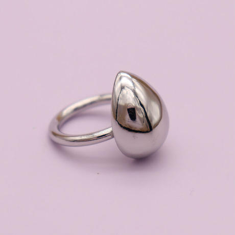 Rounded teardrop Ring(Silver) /   2105_RG042