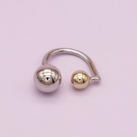 Double ball Ring(Silver) /   2105_RG045