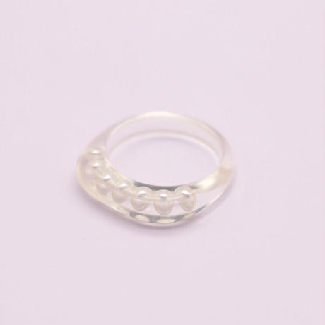 Clear pearl ring   /  2105_RG051