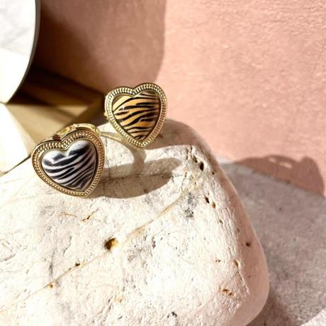 Zebra pattern ring(White)   /  2105_RG053