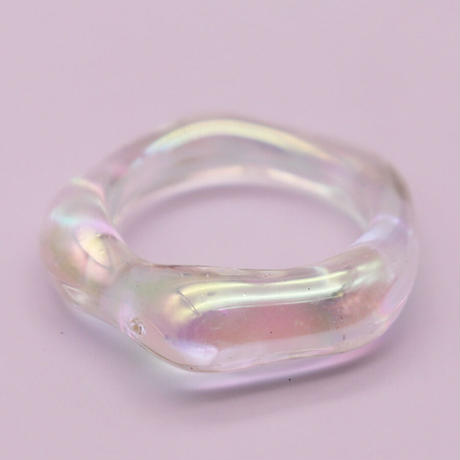 Acrylic Irregular Ring(Clear) /  2105_RG040