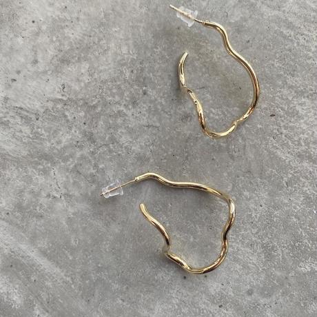 Irregular hoop  Pierce(GOLD) /  2102_PR062