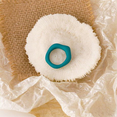 Acrylic Irregular Ring(Aqua) /   2105_RG040