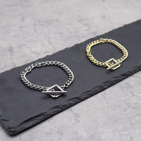 Mantel chain Square Bracelet (GOLD)/ BR-026