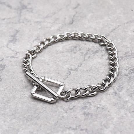 Mantel chain Square Bracelet (SILVER)/ BR-026