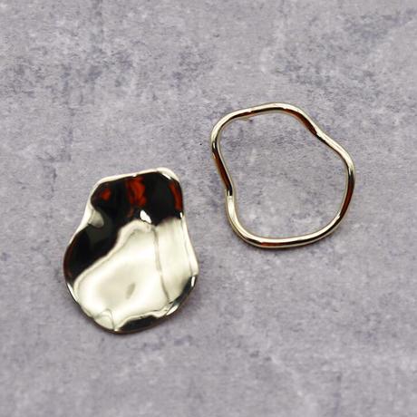 Asymmetry front plate & circle  Pierce(GOLD) /  2102_PR063