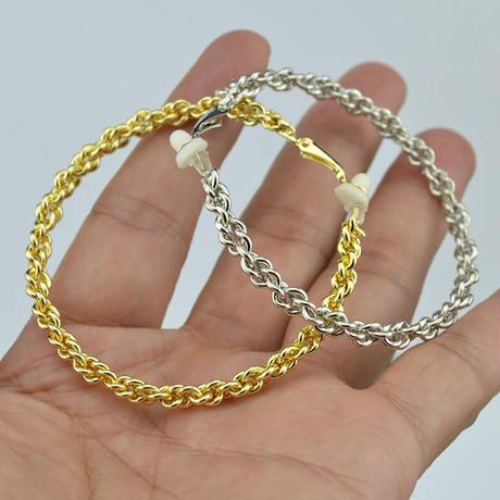 Clip on the ears beaded Clips Earrings(SILVER) /  2102_ER050