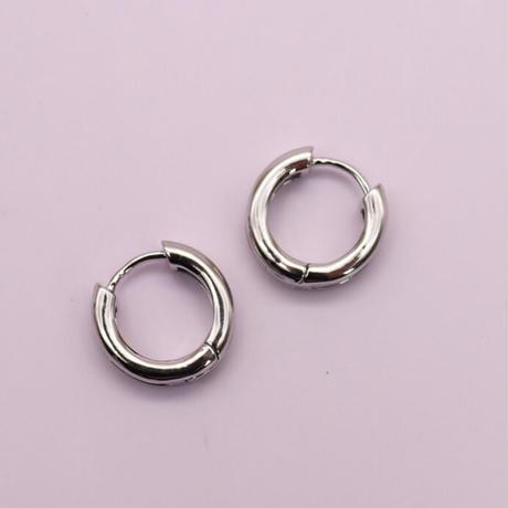 Mini Metal Hoop Pierce (SILVER)   /   2105-PR0127
