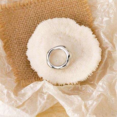 Acrylic Irregular Ring(Silver) /  2105_RG040