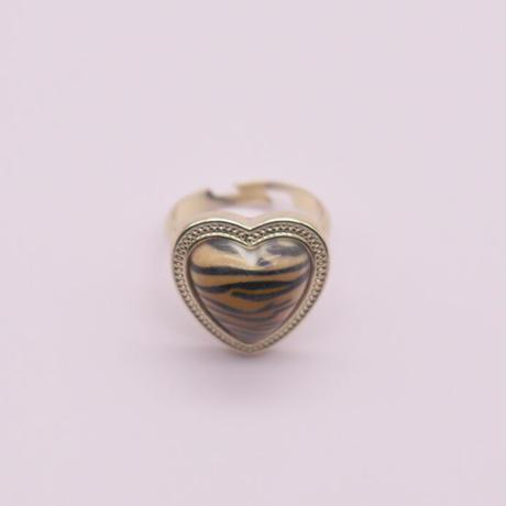 Zebra pattern ring(beige)   /  2105_RG053