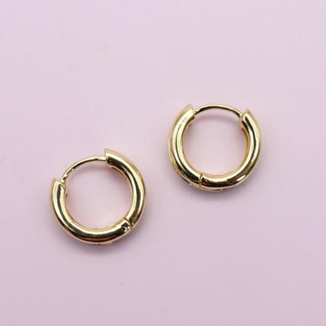 Mini Metal Hoop Pierce (GOLD)   /   2105-PR0127
