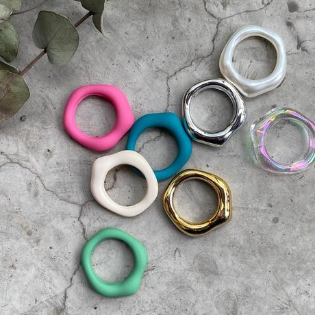 Acrylic Irregular Ring(Pink) /   2105_RG040