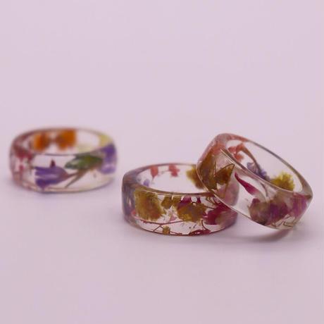 Clear dryflower ring  /   2105_RG047