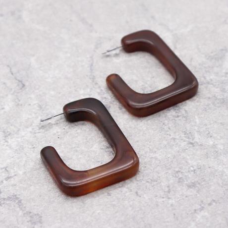 Acrylic Resin Drop Pierce(Demi) /  2102_PR068