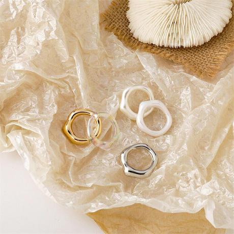 Acrylic Irregular Ring(Gold) /   2105_RG040