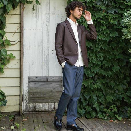 【日本製】BOBSONコラボ/反応染めトラウザーパンツ/ インディゴ /202-1553-03