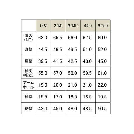 メランジVネック長袖TEE/ グレー /201-1321-01