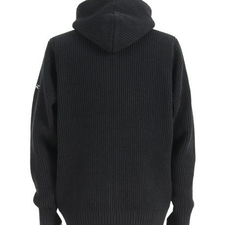 モールヤーン ジップパーカー/ ブラック /202-1443-05