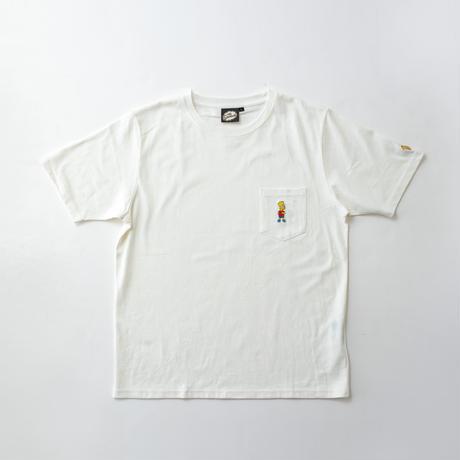 シンプソンズ 胸ポケットTシャツ BOOST 91CS02 WHT / GRN / PUR