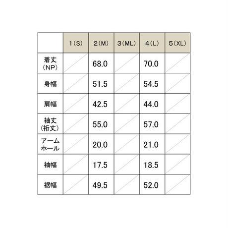 マイクロピケZIPプルオーバーシャツ / カーキ / 192-1211-01