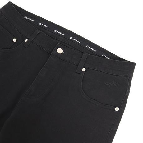 足腰サポート【ファイテン】コラボ/グラファイトブラックジーンズ/ ブラック /202-1553-09