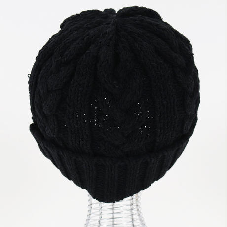 モールヤーン ニットキャップ/ ブラック /202-1665-08