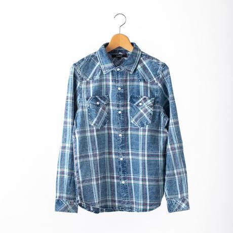 インディゴチェックシャツ BOOST 91LSH01 RED / GRN / PNK