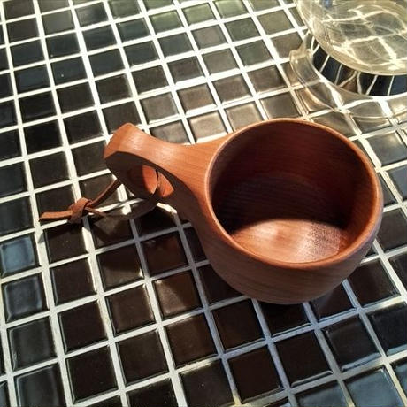 木製マグカップ 『桂』くくさ 内側漆仕上 his-131