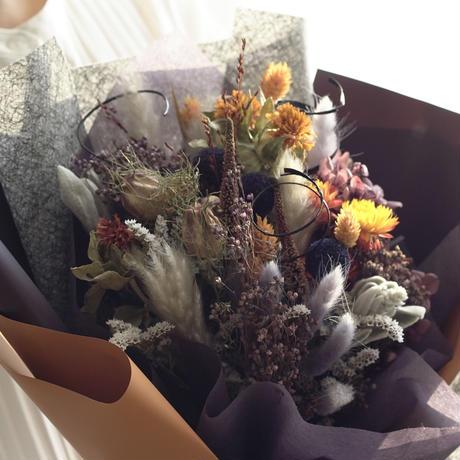 【ドライフラワーの花束】ハロウィン