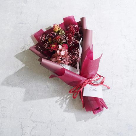 【クリムゾン】ドライのミニ花束