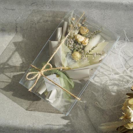 【ドライローズのミニ花束】ホワイト