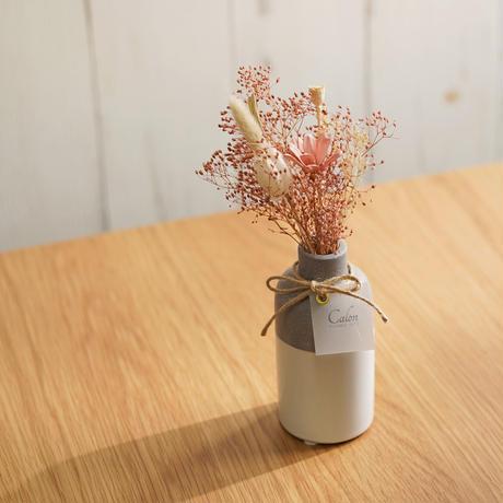 【ミニ花束(ピンク)×フラワーベース(bicouche)】Calonギフトボックス