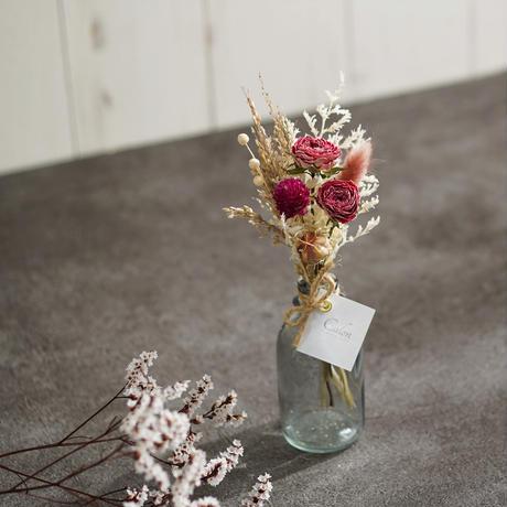 【ドライローズのミニ花束】ピンク