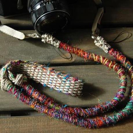 Crazy-color麻紐ヘンプカメラストラップ