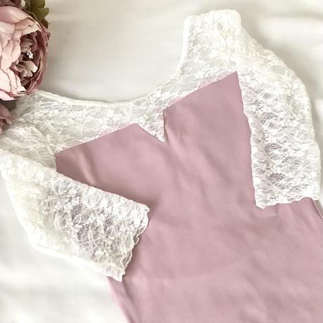 Elegant Lace Sleeve Leotard