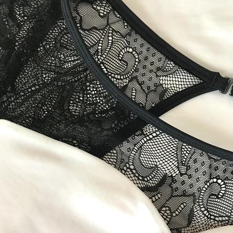 Black&White lace Leotard