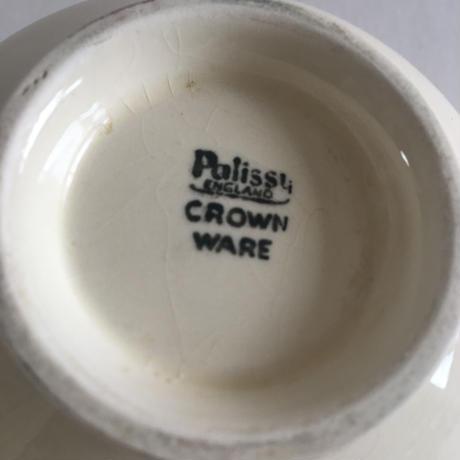 1940年代 イギリス製 パリッシー窯 ミルク・ピッチャー フルーツレリーフ クリーム色