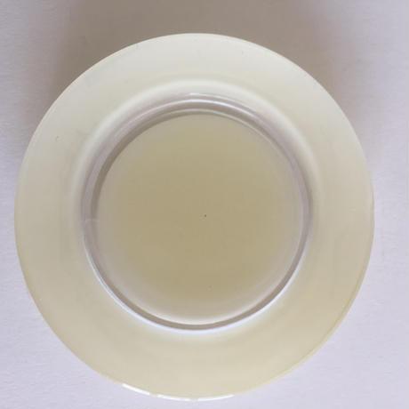 1960年代 デュラレックス 強化ガラス デザート・プレート 小皿 ペイント アイボリー