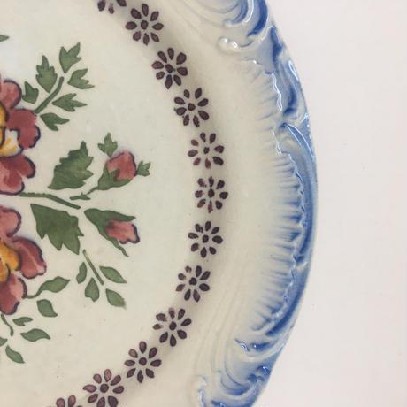19世紀後半 ジアン デザート・プレート 薔薇柄